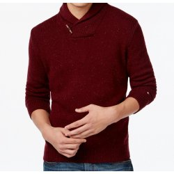 TOMMY HILFIGER burgundy sweater with XXL logo