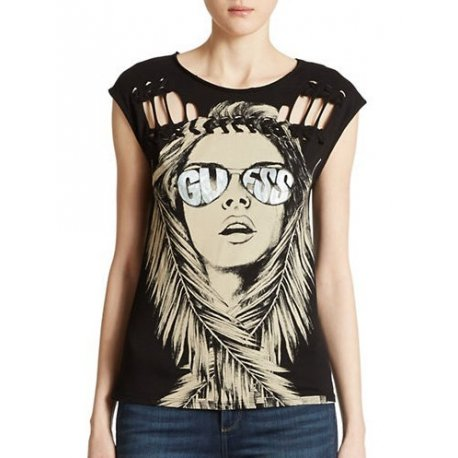 GUESS T-shirt / blouse model BRAIDED with logo S / M