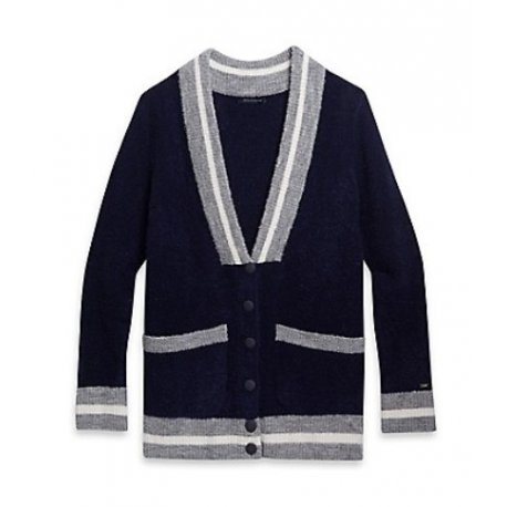 TOMMY HILFIGER cardigan button logo TH XL