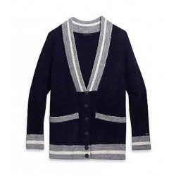 TOMMY HILFIGER collegiate-inspired cardigan, sweater S