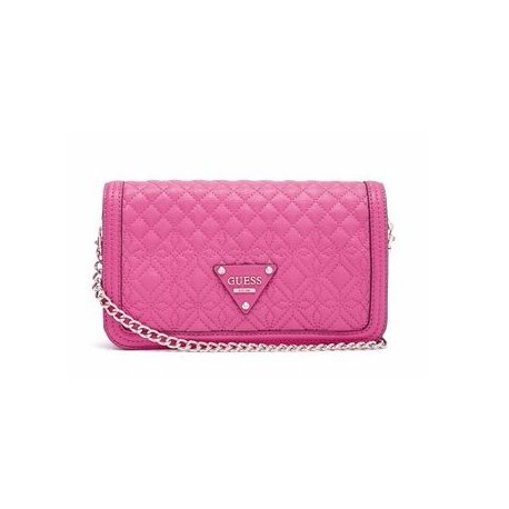 GUESS torebka pikowana SUNSET Quilt Flap Crossbody