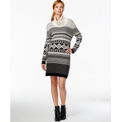 TOMMY HILFIGER turtleneck dress fairisle L