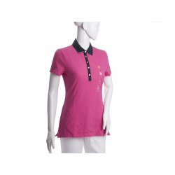 TOMMY HILFIGER pink polo collar in S peas