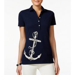 TOMMY HILFIGER polo shirt with anchor XS / S