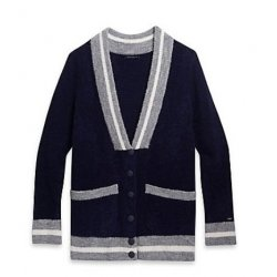 TOMMY HILFIGER collegiate-inspired cardigan, sweater M