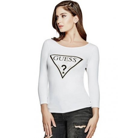 GUESS bluzka/T-shirt logo metallic M/L