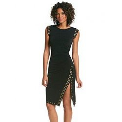 MICHAEL KORS asymmetrical black dress S