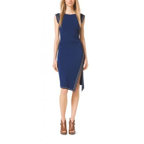 MICHAEL KORS asymmetrical dress Prussian Blue XS