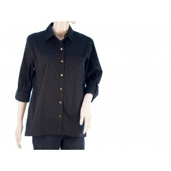 MICHAEL KORS shirt dark blue buttons with logo MK