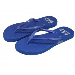 GAP blue flip-flops signed 37 logo