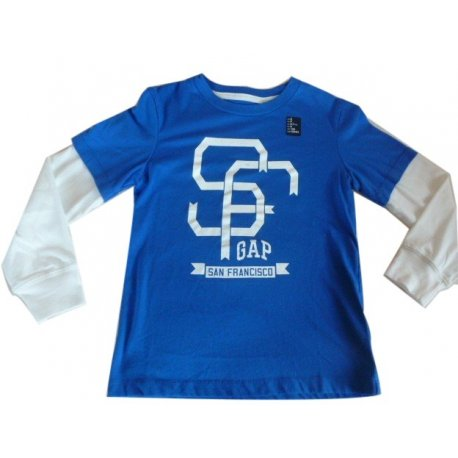 GAP T-shirt long sleeve with the logo of the US 6-7 years