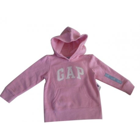 GAP pink kangaroo sweatshirt with the logo of the US 3 years old