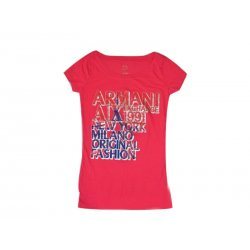 ARMANI EXCHANGE pink T-shirt with USA 34 XS / S