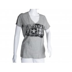 CONVERSE t-shirt heather gray ORIGINAL L