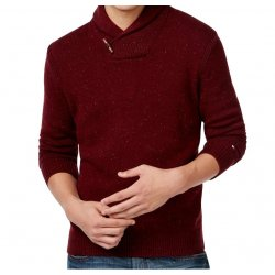 TOMMY HILFIGER classic sweater with burgundy US L