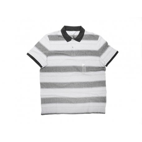 CALVIN KLEIN elegant striped polo shirt M