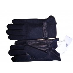 CALVIN KLEIN S / M leather gloves