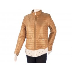 MICHAEL KORS gold quilted jacket S 36