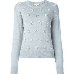 MICHAEL KORS Women's Paisley-Embellished Cotton Blend Sweater size: M