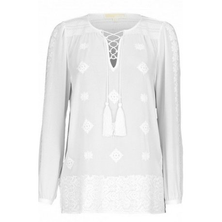 MICHAEL KORS blouse Embellished Georgette Top new