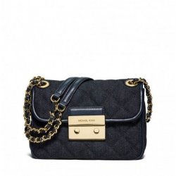 MICHAEL KORS quilted jeans purse SLOAN