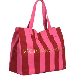 Victoria's Secret bag big pink striped