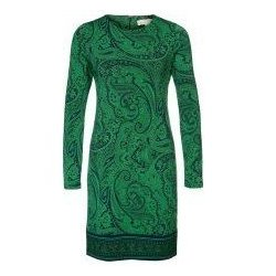 MICHAEL KORS Jersey Shift Dress Paisley Pattern GOOSBERRY size: S