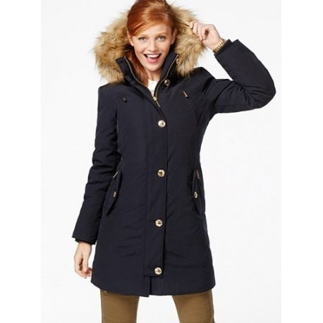 MICHAEL KORS ciepla puchowa parka navy nowosc USA