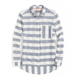 TOMMY HILFIGER striped shirt with logo XS / S