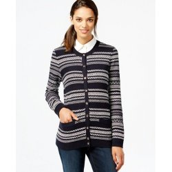 TOMMY HILFIGER patterned cardigan with pockets M
