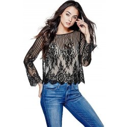 GUESS Women's Sultry Lace Shirt size: SMALL