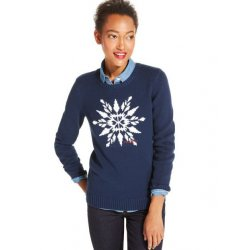 TOMMY HILFIGER SNOWFLAKE sweater with logo L / XL