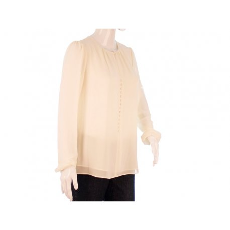 MICHAEL KORS luxury chiffon blouse ECRU S new
