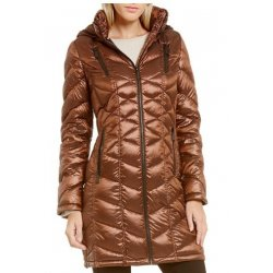 CALVIN KLEIN Women's Packable Down Hood Jacket, Coat size: X-SMALL