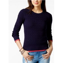 TOMMY HILFIGER cotton cable-knit sweater L