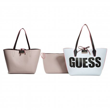 GUESS set of 3 double sided bags BOBBI new