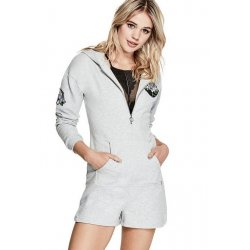 GUESS Women's JUNO HOODED ROMPER size: X-SMALL