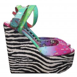JIMMY CHOO snadaly koturn Panda Wedge