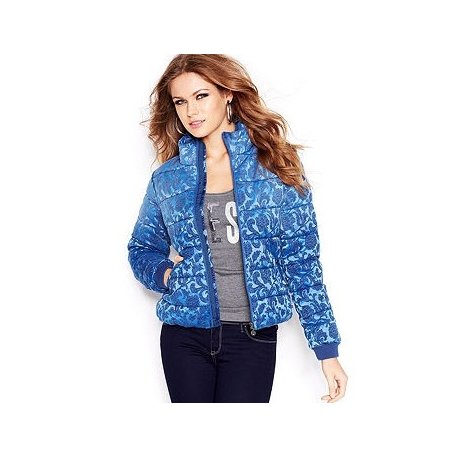 GUESS blue quilted jacket Assunta 36 S