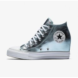 CONVERSE Chuck Taylor All Star Luxury Mid Wedge Sneakers size 7.5