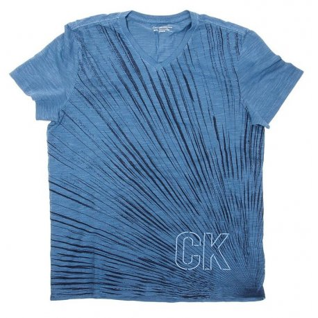CALVIN KLEIN blue t-shirt logo on the back M