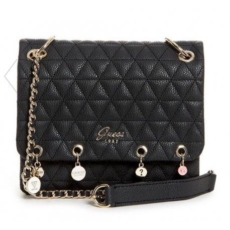 GUESS torebka FLEUR QUILTED CHARM CROSSBODY