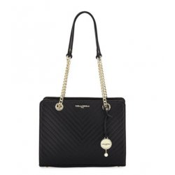 KARL LAGERFELD Charlotte Quilted Leather Tote Bag