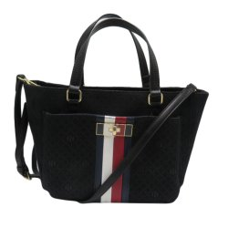 TOMMY HILFIGER shopper bag, monogram tote, handbag