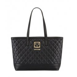 Love Moschino Napa Quilted Faux Napa Satchel Bag