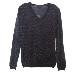 TOMMY HILFIGER Woman`s Sweater Navy Polka Dot size: XL