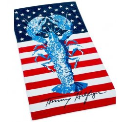 "TOMMY HILFIGER Cotton 35"" x 66"" Rock Lobster Beach Towel"