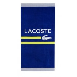 "LACOSTE Sprint Cotton Logo-Print 36"" x 72"" Beach Towel"