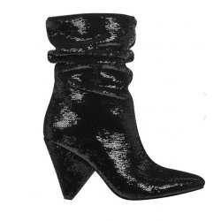 GUESS NAKITTA SEQUIN SLOUCHY BOOTIES size: 5