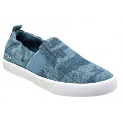 GUESS MAXWELL DENIM CAMO SLIP-ON SNEAKERS size: 5